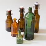 Die Retter der Tafelrunde, Flaschen Braunglas (11-28cm)